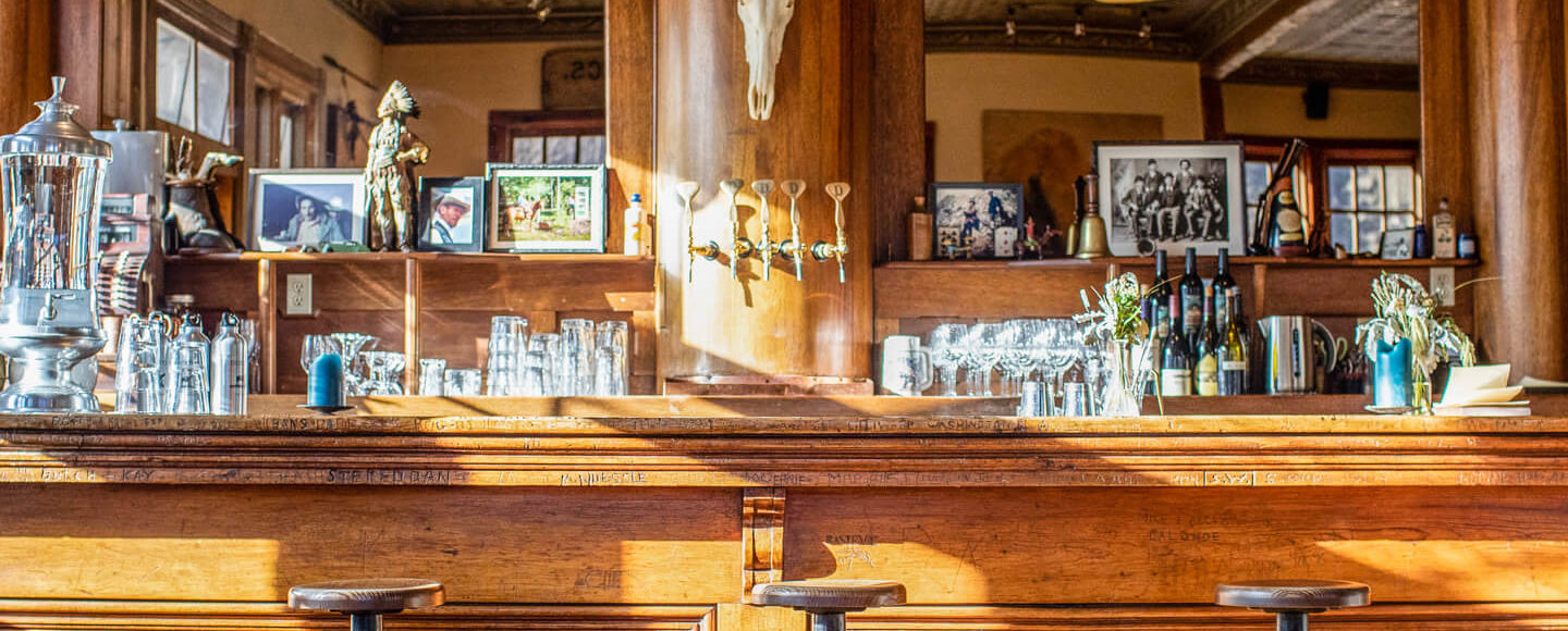 Bar inside of the Saloon dining room