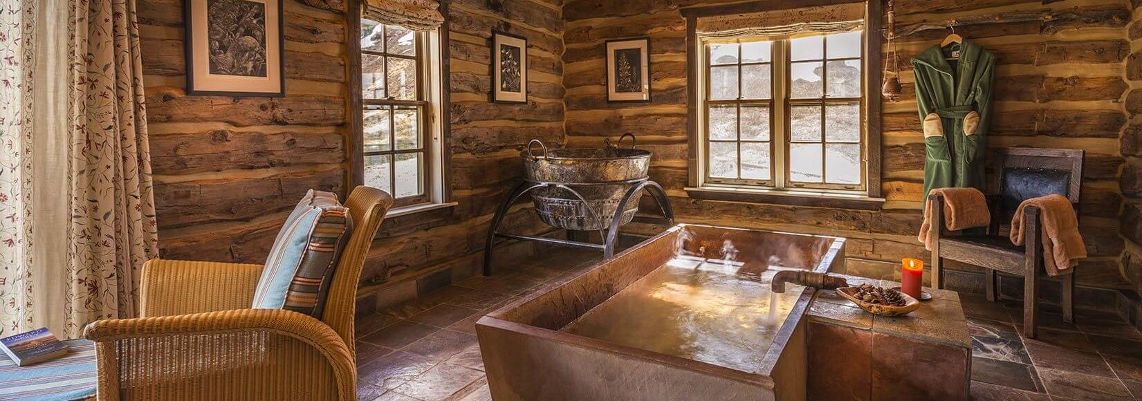 Well House cabin bath