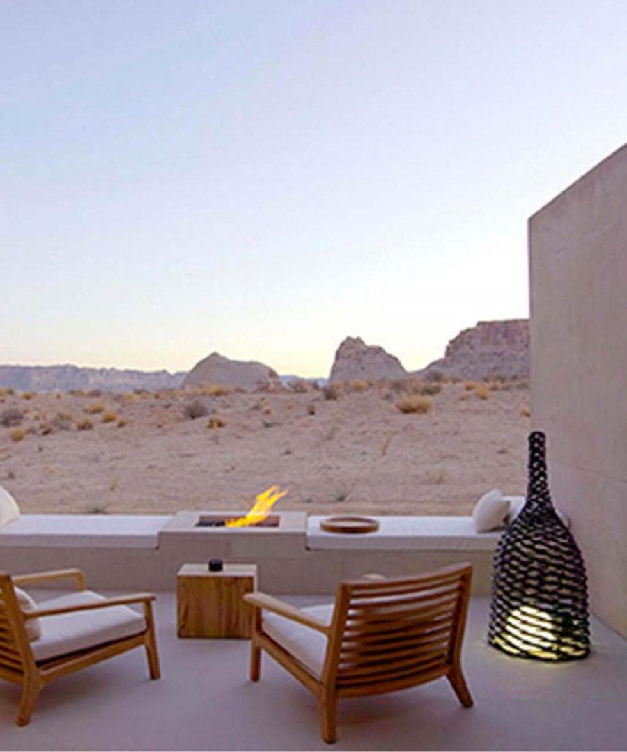 Desert landscape view from Amangiri resort, Utah
