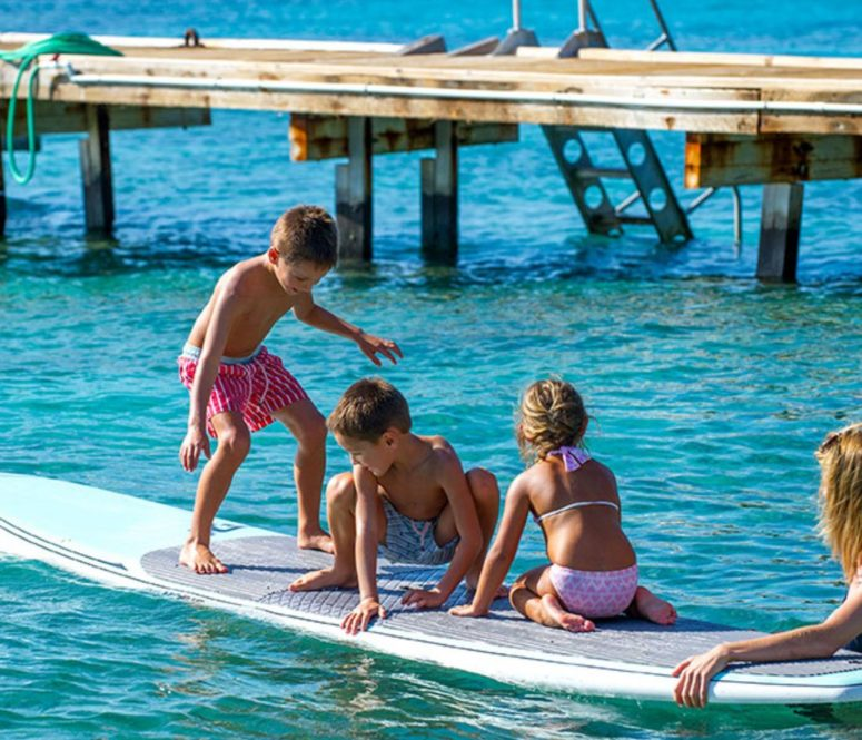 Kids on paddleboards