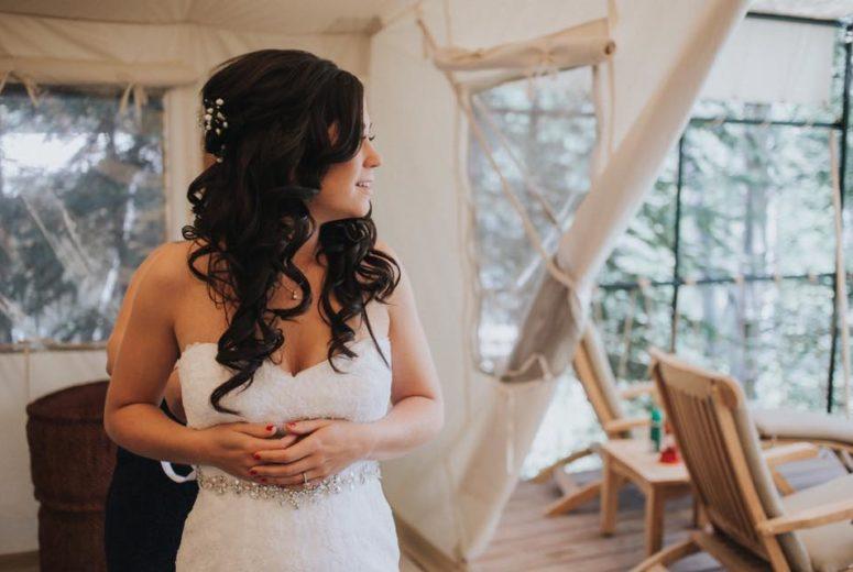 Bride at River Camp