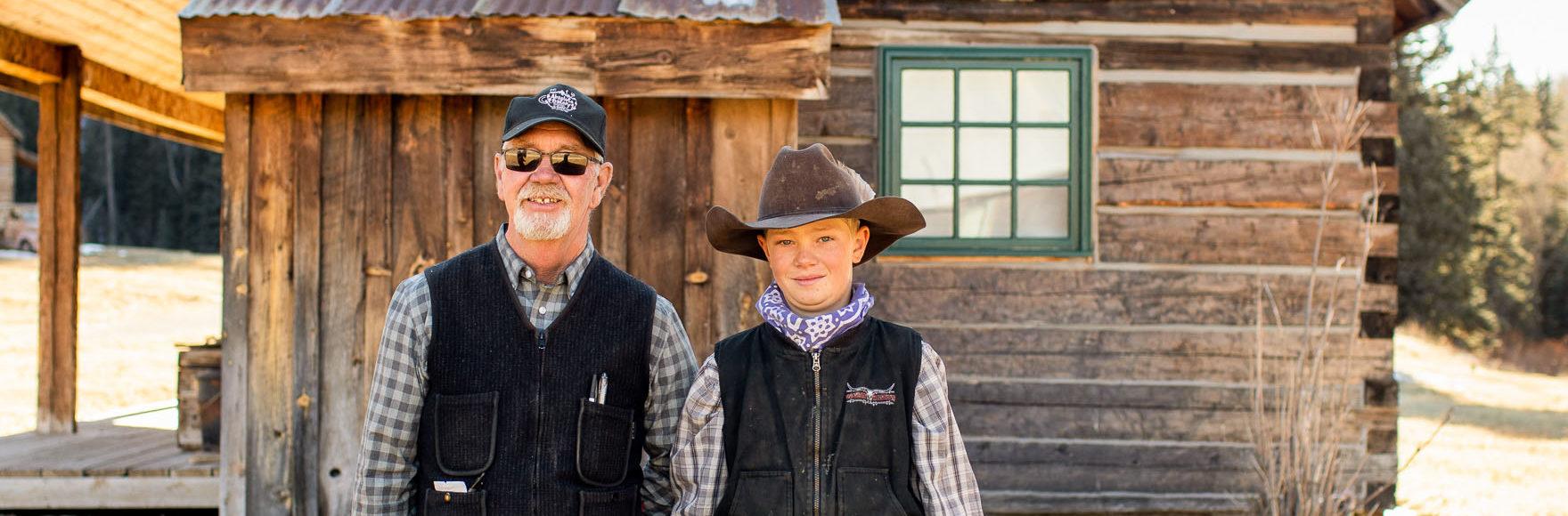 Local ranchers at Dunton